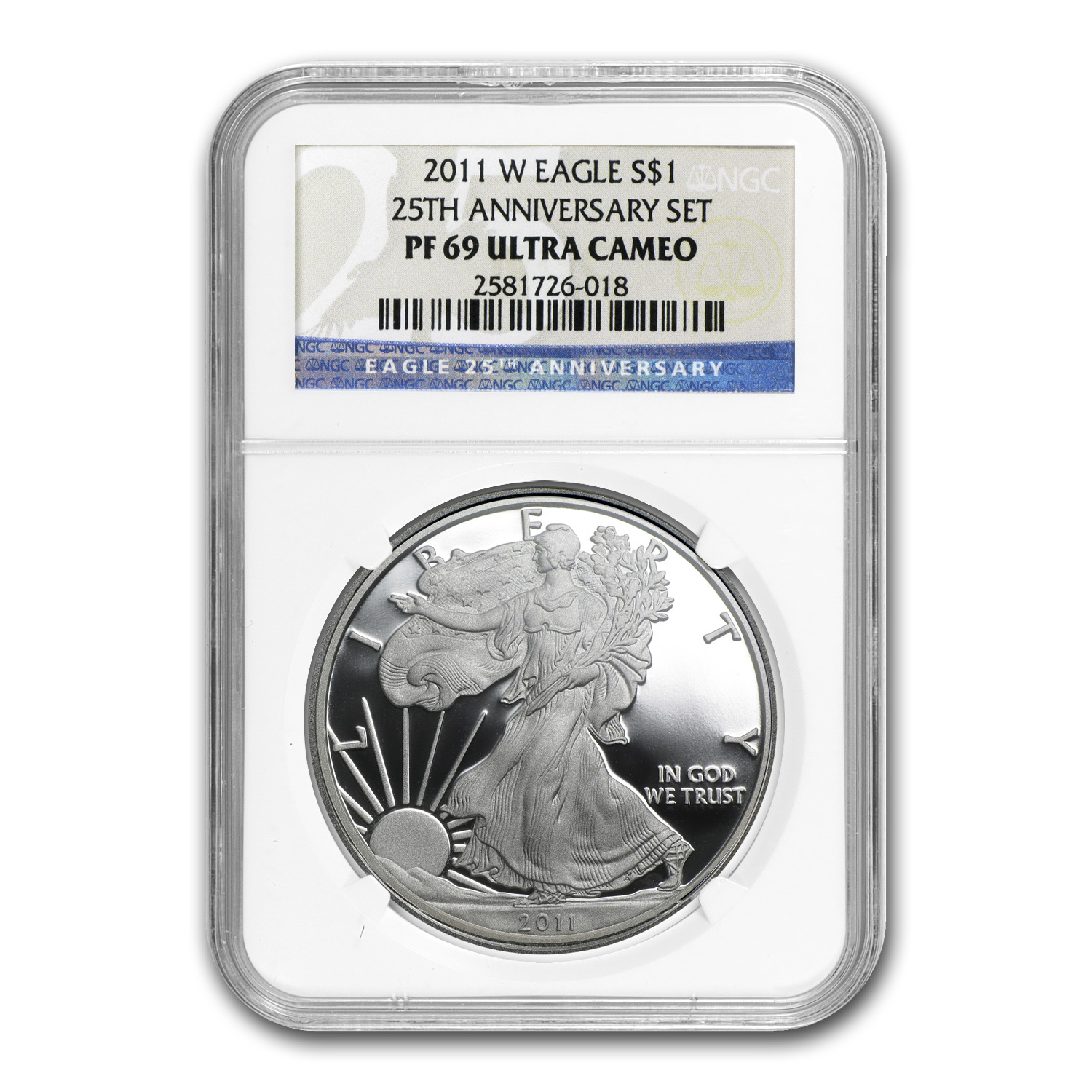 2011-W Proof Silver American Eagle PF-69 NGC (25th Anniv)